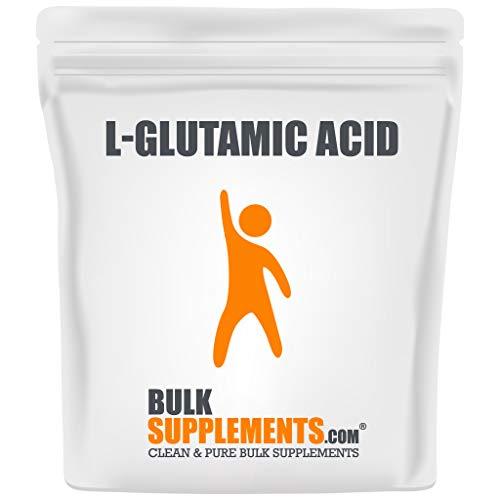 BulkSupplements.com L-Glutamic Acid Powder - BCAAS Amino Acids - BCAA Pre Workout - Unflavored Pre Workout - Amino Pre Workout (250 Grams - 8.8 oz)
