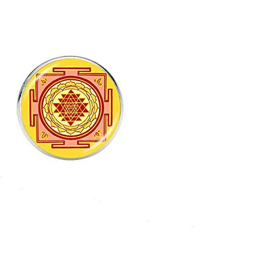 Broches De Vidrio De Moda Insignia Mandala Budista Meditación Geometría Sagrada Broches De Arte Joyas Misteriosas