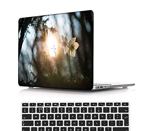 NEWCENT MacBook Pro 15' Funda,Plástico Ultra Delgado Ligero Cáscara Cubierta EU Teclado Cubierta para MacBook Pro 15 Pulgadas con Touch Bar Touch ID(Modelo:A1707/A1990),Serie Azul Claro 0258