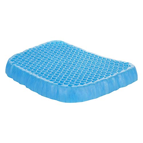 Ocean 8 Pain Relief Gel Seat Cushion with Cushion Cover – Breathable, Compressible and Portable Pressure Cushion for Back Support and Lower Muscles – Honeycomb Design Gel Seat Pad for Everyone