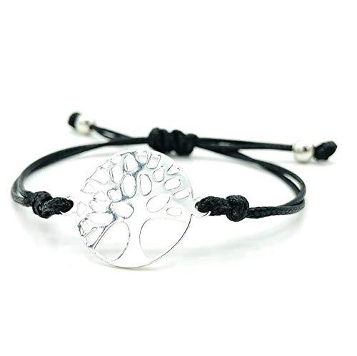 LUCIL® - TREELIA - Armband Lebensbaum Baum des Lebens Farbe: schwarz und silber