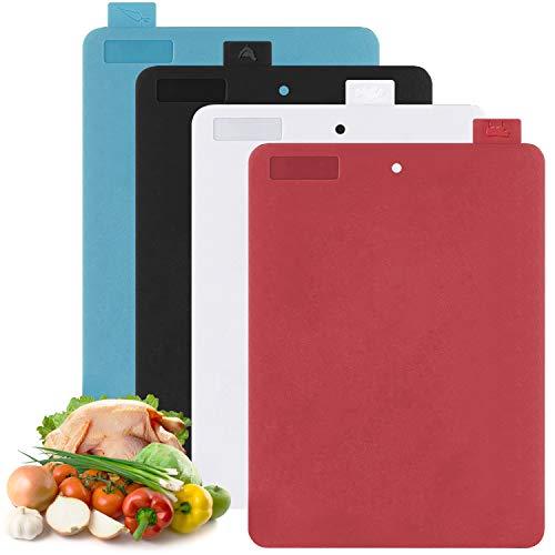 Farbkodierte Schneidebretter Set BPA-frei Antibakterielle Kunststoff Küchenbretter Flexibel Spülmaschinenfeste Frühstücksbretter Hackbretter 2mm (Set 1)