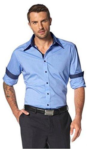 bruno banani Businesshemd Herrenhemd Gr. 35/36 oder 41/42 Hemd blau Langarm