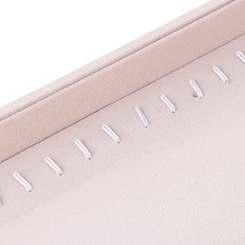 Sharplace 2 PCS Anillo Pendientes Collar de Joyería Pantalla Organizador Bandeja Showcase Holder