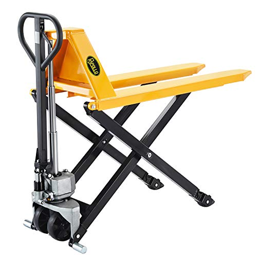 APOLLOLIFT Pallet Lift 2200lbs Capacity 45'Lx21'W Fork 3.3'' Lowered 31.5'' Raised Height JF