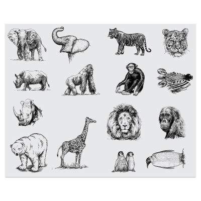 Mayco Designer Silkscreen, Zoo Animals