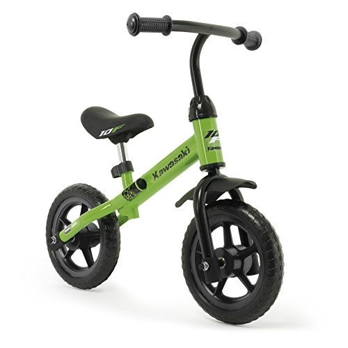 INJUSA - Bicicleta Kawasaki Balance sin Pedales para Niños de 3 Años de Fácil Manejo y Ruedas de Goma Eva, Color Verde, 69 x 38,5 x 52 cm (5085)