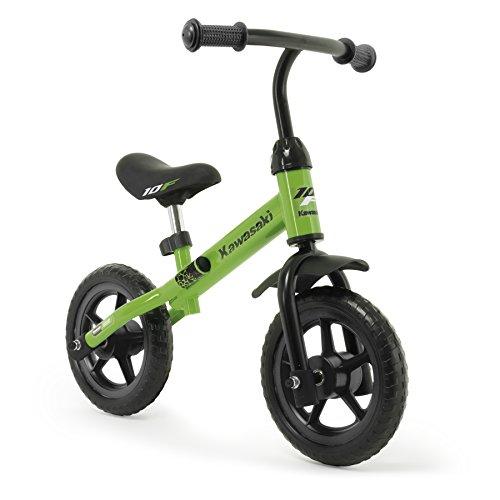 INJUSA – Bicicletta Kawasaki Balance senza pedali per bambini di 3 anni di facile utilizzo e ruote in gomma EVA, colore verde, 69 x 38,5 x 52 cm (5085)