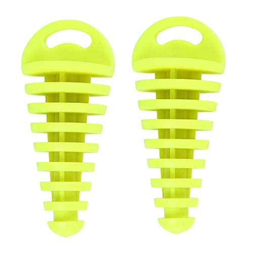 PVC Air-bleeder Plug Wash Plug for 2-Stroke ATV Quad Pit Dirt Bike Scooter Moped Motorcycle KTM CR KX RM YZ 80cc 125cc 150cc 250cc Exhaust Silencer Muffler Wash Plug (2 Pcs/fluorescent yellow)