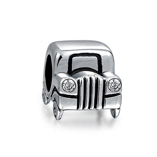 Bling Jewelry SUV Jeep Conductor del Coche Coche CZ Faros Encanto Viajes Abalorio para Mujer Mamás Encaja Pulsera Europea
