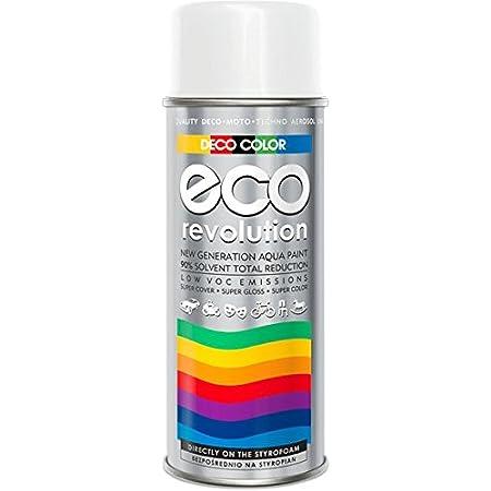 Deco Farbe Eco Revolution Auf Wasserbasis Acryl Spray 28 Farben Aus Der Ral Palette Styropor Stoffe Blumen Empfindliche Materialien Art Decor Craft Diy Ral 9010 Weiß Glanz Baumarkt