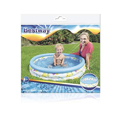 Bestway 51008 Piscine pataugeoire Ocean Life 3 boudins, diamètre 102 cm hauteur 25 cm