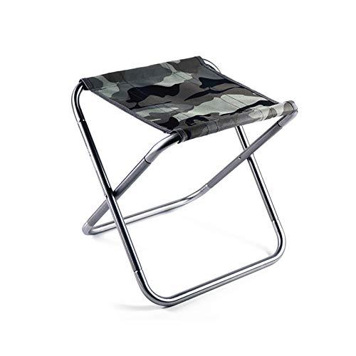 YuuHeeER Mini silla de camping plegable portátil taburete de camping ligero plegable taburete 1 pieza