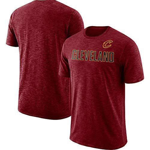 JNTM Uomo Basket NBA T-Shirt Cleveland Cavaliers Fans Maglia Traspirante Asciugatura Rapida Athletics Cation Estate Abbigliamento per La Gioventù S-XXXL Red-XL