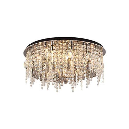 N/Z Equipo para el hogar Luz Luz de Cristal Simple y Moderna Sala de Estar Dormitorio Comedor Lámpara Personalidad Creativa Luz LED (Tamaño: 60 cm)