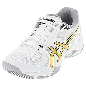 ASICS Men's Gel-Rocket 10 Indoor Court Shoes, 10.5, White/Pure Gold