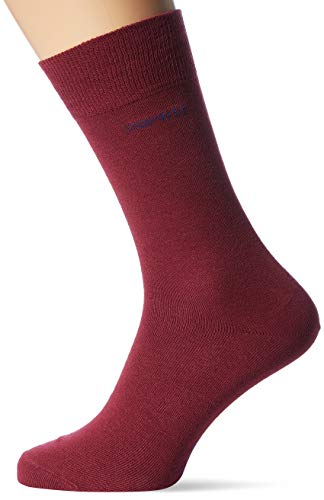 ESPRIT Herren Basic Uni 2-pack M So Socken, Rot (Shadow Red 8138), 43-46 (2er Pack)