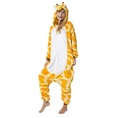 Katara 1744 -Giraffe Kostüm-Anzug Onesie/Jumpsuit Einteiler Body für Erwachsene Damen Herren als Pyjama oder Schlafanzug Unisex - 3