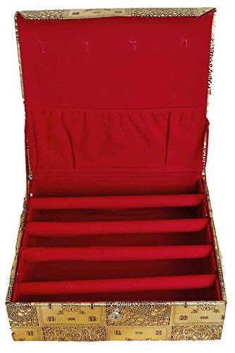 Sonisha BAN3000 4 Roll Ethnic Bracelet Holder, Bangle Storage Box, Jewellery Organiser