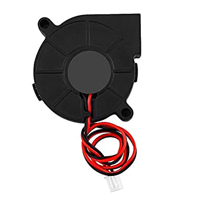 Vbestlife 12/24V DC 50 * 15mm Blow Radial Cooling Fan Turbofan Cooler Kit Accessories for 3D Printer(12V)