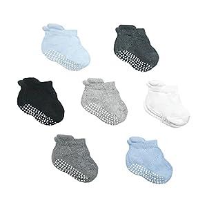 ADvancore Calcetines de Bebés, 7 pares de Tobillera Calcetines Antideslizantes / Calcetines Deportivos Antideslizantes Calcetines de bebé recién nacido 0-36 meses