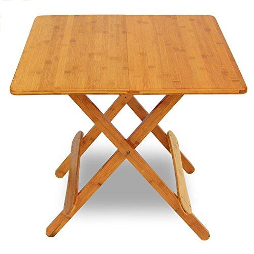 LVZAIXI Table Pliante en Bois Pleine carrée, Table d'étude de Lecture d'intérieur, Table de Salon (Taille : 60 cm)