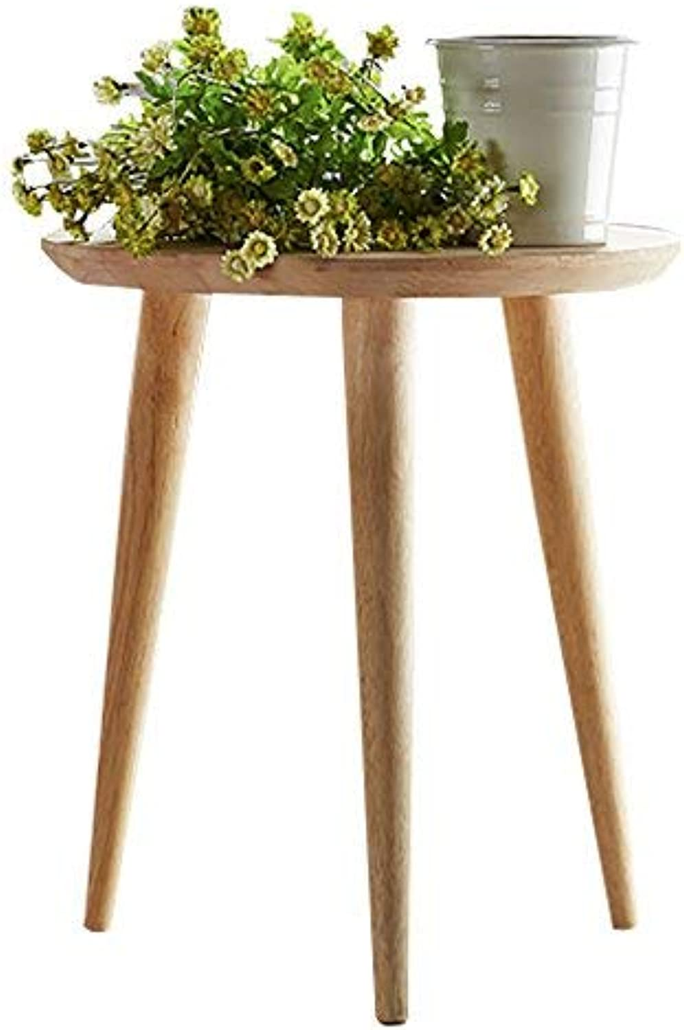 Small Round Coffee Tables Wooden End Table Nesting Tables Modern Side Table Beside Tables Living Room Furniture Sets (Φ15.75X24.41inch)
