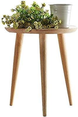 Amazon.com: Pequeñas mesas de café redondas de madera para ...
