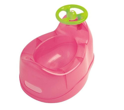 dBb Remond Baby Töpfchen mit Lenkrad, Rosa transparent