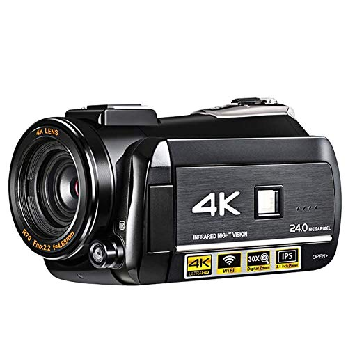 ZCFXGHH Digital Video Camera DVR 4K 120 FPS 720P Support 0.39X Wide Angel Lens 5MP CMOS Max 24mp Resolution 3.0 inch,This is The Best Gift for Meetings, Weddings, Travel, Vacation