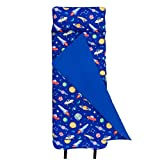 Wildkin Original Nap Mat with Pillow for Toddler Boys and Girls, Measures 50 x 20 x 1.5 Inches, Ideal for Daycare and Preschool, Mom's Choice Award Winner, BPA-Free, Olive Kids (Out of this World)
