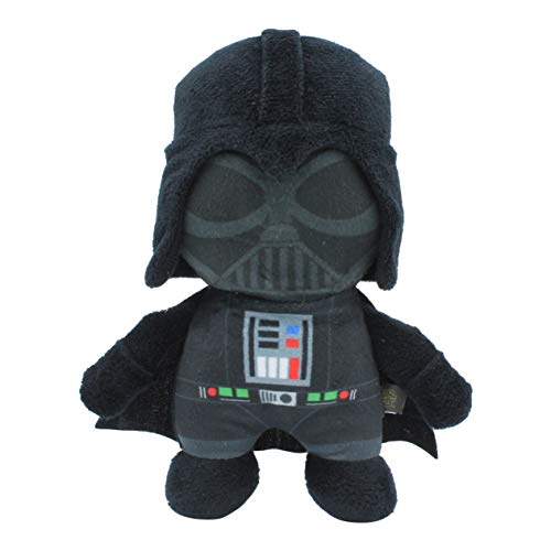 Star Wars Plush Darth Vader Figure Dog Toy | Soft Star Wars Squeaky Dog Toy | Medium