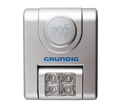 Grundig Led-Lampe mit Sensor, Plastik, silver, 8.5 x 6.5 x 4 cm