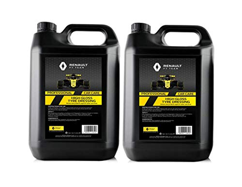 Renault F1 2 x 5 Litre High Gloss Tyre Dressing | Heavy Duty Formula | Protects and Shines
