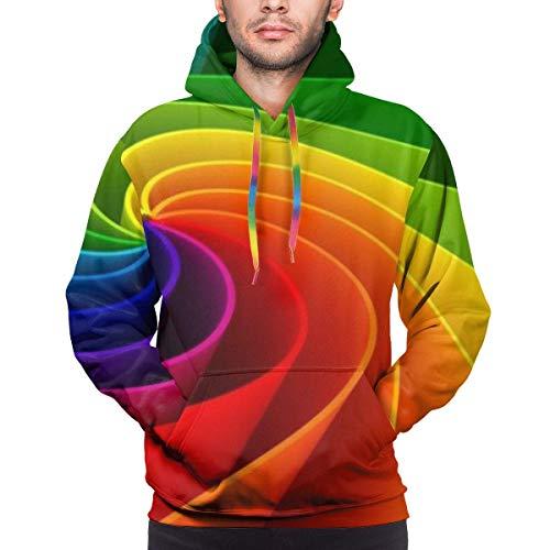 Love girl Sudadera con Capucha Colorida con Estampado de arcoíris para Hombre, Sudadera Deportiva con tecnología de Entrenamiento de Peso Ligero y Rendimiento