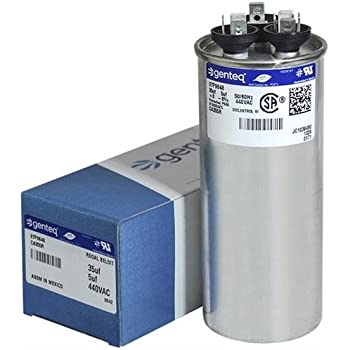 5 uf//Mfd 370//440 VAC AmRad Round Dual Universal Capacitor Pack Mars 12266 Replacement 2 Made in The U.S.A. 35