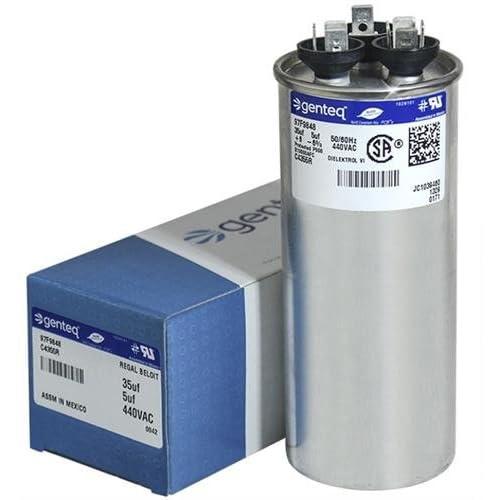 100335-06 - 35 + 5 uf MFD 440 Volt VAC - Lennox Round Dual