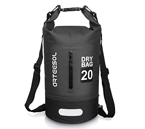 arteesol Dry Bag 5L 10L 20L 30L Waterproof Dry Bag Rucksack with Double Shoulder Strap Backpack for Swimming Kayaking Boating Fishing Travelling Cycling Beach