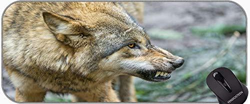 Cojín de ratón de Juego Grande, Snarl Wildlife Wolf Gran Matería de Juego