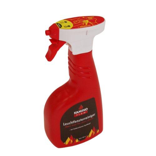 Kamino Flam Leuchtfensterreiniger in Rot, einfach zu verwendender Kaminglasreiniger , Ofenglasreiniger entfernt Ruß- und Brennrückstände