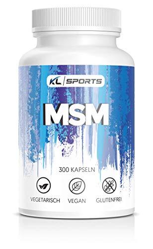 MSM Kapseln - 99,95% hochreines MSM Pulver - 300 Kapseln, vegan - 2000mg pro Tagesdosis - Pharmaqualität (300 Kapseln)