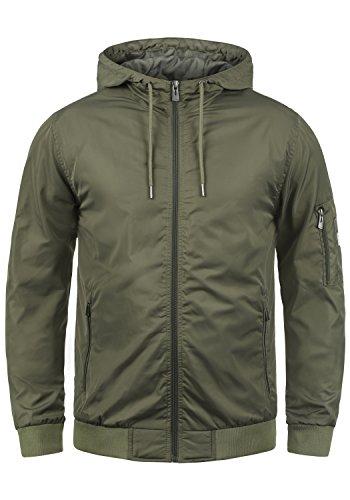 Blend Razy Herren Übergangsjacke Herrenjacke Jacke mit Kapuze, Größe:M, Farbe:Dusty Olive Green (77203)