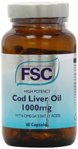 FSC 1000mg High Potency Cod Liver Oil - Pack of 60 Capsules
