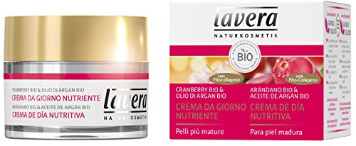 lavera Crema de Día Nutritiva - Con Fito-Colágeno - Arándano bio & Aceite de argán bio - vegano - cuidado facial biológico - cosméticos naturales 100% certificados - 50 ml