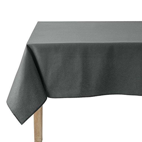 Coucke tafelkleed rechthoek uni antraciet katoen 180 x 300 cm
