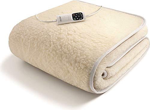 Imetec Scaldasonno Adapto S 6T - Singolo in lana merino, 150x80 cm, lavabile