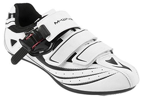 M-Wave Rennrad-Fahrradschuhe RBS, weiß/schwarz, 43, 17110731