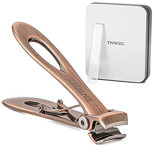 Cortaúñas TNWZC para uñas gruesas, cortador de uñas de acero inoxidable resistente con lima de uñas, cortaúñas afiladas y resistentes para hombres y mujeres