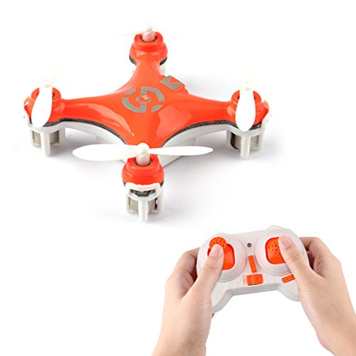 FPVRC Cheerson CX-10 Mini RC Quadcopter 2.4G 4CH 6 Axis Gyro Nano Drone with Headless Mode, 360 Degree Flips and LED Lights, Orange