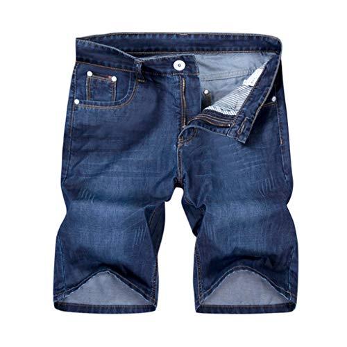 FRAUIT heren jeans shorts eenvoudige jeansshort ijs silk cool korte broek zomer mode denim chino shorts bermuda shorts voor mannen stretch capri basic blauw marine
